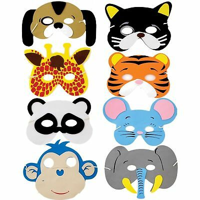 Children/'s Birthday Farm Animal Foam Mask Costume Fancy Dress Party Multipack