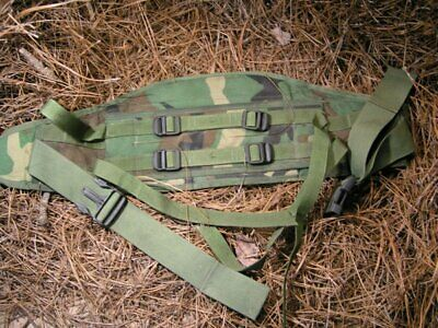 USGI MOLLE 2 Woodland Waist Belt !  Free Helmet Cover and Canteen Cover !