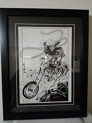GHOST RIDER Lithograph NEAL ADAMS signed,  Framed