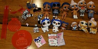 Lot 12 LoL Doll Amazing Surprise Lot Uptown + Downtown Family Set +some extras