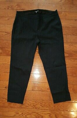EILEEN FISHER Black Cropped  Petite Large PL Textured Pants