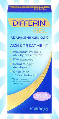 Differin Adapalene Gel 0 1 Acne Treatment 15g 30 Day Supply