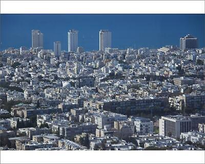 "10""x8"" (25x20cm) Print Israel, Tel Aviv, elevated city view from..."