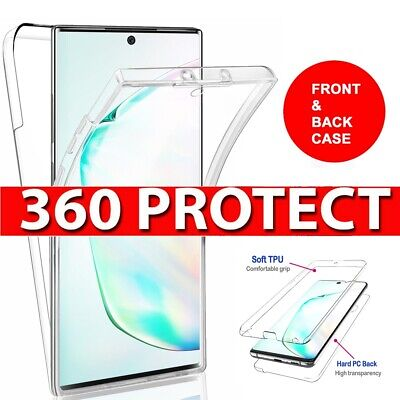 360° Full Body Protection Clear TPU Case Cover For Samsung Galaxy Note 10 Plus