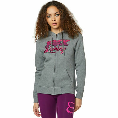 Fox Racing Ladies Qualifier Zip Fleece Sweatshirt MX Hoodie Jumper Top  All Size
