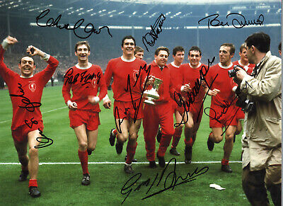 Liverpool Football Club Legends 16x12 inch multi signed authentic photo SS405G
