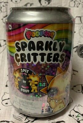 POOPSIE Sparkly Critters SURPRISE Unicorn Figure Spit or Poops Slime SEALED CAN