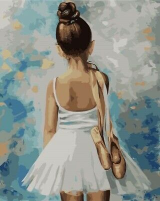 Little Ballerina - 40 x 50 cm High Quality Paint by Numbers Kit Cotton Canvas st