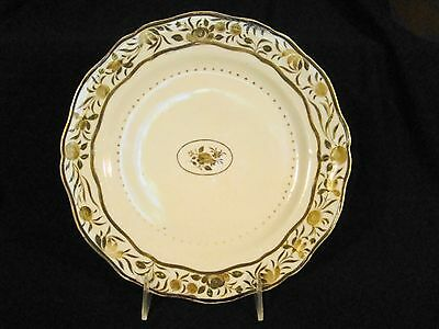 Antique Chinese Export Porcelain Sepia & Gilt Early Fruit & Roses Plate