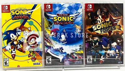 Sonic Mania + Team Sonic Racing + Sonic Forces - Nintendo Switch - Brand New