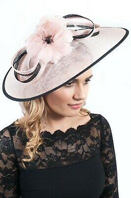 Dusky Pink Extra Large Sinamay Hatinator Ladies Fascinators Race Day Hats Ascot