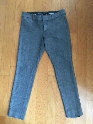 Banana Republic Womens Sloan Fit Black Patterned Ankle Pant (size 2)