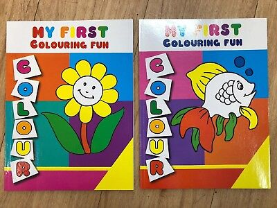 2 x My First Colouring Book Brand Kids Childrens New Free Shipping