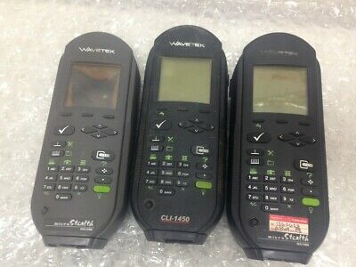 LOT OF 3 Wavetek CLI-1450 MS1400 MS1200 Signal Level Meter { UNTESTED }