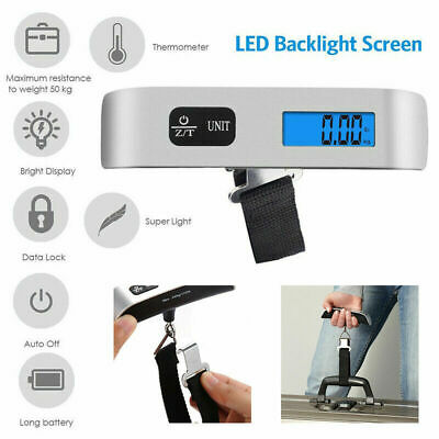 Electronic Portable Luggage Hanging Travel LCD Digital Scale 50kg Weight Kit