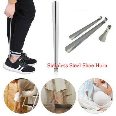 "Professional  6""-20"" Stainless Steel Extra Long Handle Shoe Horn Lifter Shoehorn"