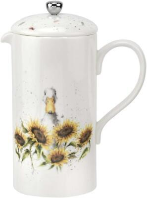 Royal Worcester Wrendale cafetiere coffee pot, 1.5pt, duck & sunflower
