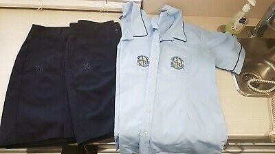 Mitchell High School Uniform girls blouse x 2 & girls shorts x 2