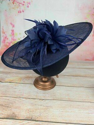 Extra Large Navy Hatinator Ladies Fascinators Hats Fascinator Races Wedding