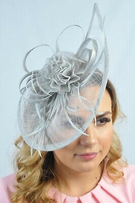 Grey Ladies Fascinator Headpiece Millinery Hatinators Sinamay Fascinators RRP£65
