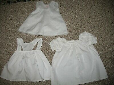 "American Girl Doll Retired Tagged White Clothes Garments. 18"" doll."