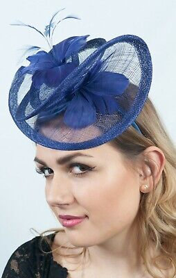 Purple Fascinator Hatinator Race Day Headpieces Sinamay Fascinators Wedding Hats