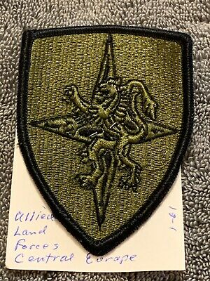 Allied Mobile Force Land OD Green Black TAB patch m//e US ARMY AMF L