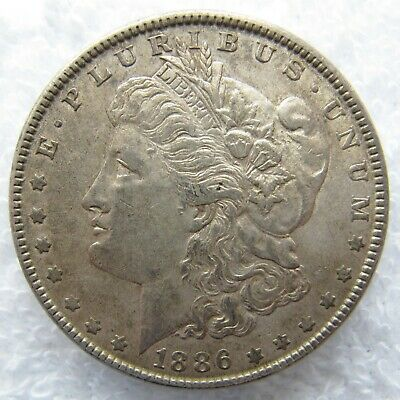 1886 Morgan Silver Dollar - Philadelphia Mint - Nice Toning and Detail
