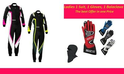 New Kerb Lady Kart Race Suit Kart Racing Gloves CIK FIA Level 2 Approved Suit