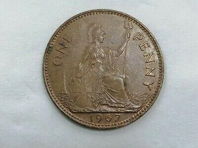 UK 1967 ELIZABETH II ONE PENNY  coin Last Penny Issued - AUNC