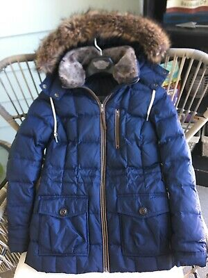Eddie Bauer Lodge Down Parka XS Womens Fur Trim Jacket Full Length