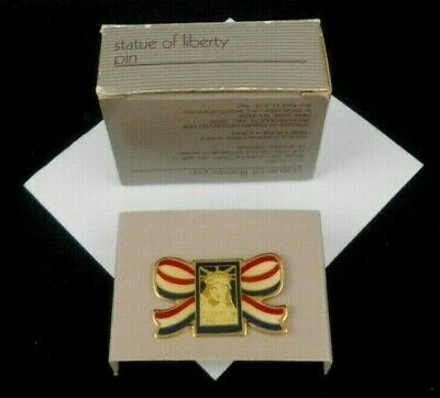 Lovely Avon Statue Of Liberty Pin In Red White Blue White Colors Nos