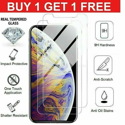 For Apple iphone X XR XS MAX Tempered glass screen Protector cover 100 % genuine