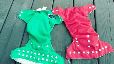 cloth diaper set of 2 with inserts
