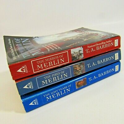 The Lost Years of Merlin Lot of 3 Paperback Books T.A. Barron Fires Mirror
