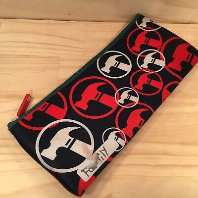 """BUNNINGS """"Green"""" Large Neoprene Pencil Case Promotional Stationery Pouch Bag"""