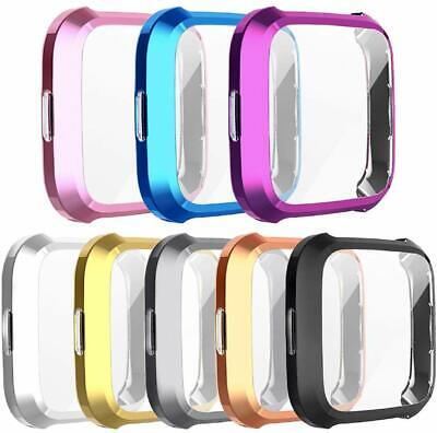 2 Pack For Fitbit Versa Lite Case Soft TPU All Around Screen Protector Cover