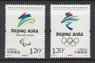 CHINA 2017-31 Beijing 2022 Winter Olympic & Paralympic Game Stamp Sport