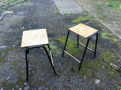 "Vintage 24"" school laboratory stools up-cycling into bar stools - 6 available"