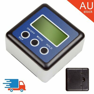AU 90° LCD Digital Protractor Inclinometer Magnetic Angle Finder Gauge Bevel Box