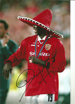 Dwight Yorke Manchester United 12x8 signed authentic football photograph SS481A