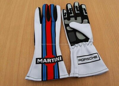 Go Kart Gloves MARTINI style F1 Race Gloves Karting Racing gloves with free gift