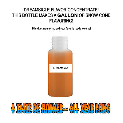 Dreamsicle Mix Snow Cone/Shaved Ice Flavor Concentrate Makes 1 Gallon