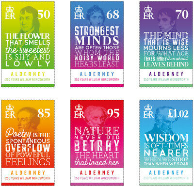 Alderney 2020. New stamps - The 250th Birth Anniversary of William Wordsworth. s