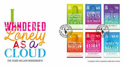 Alderney 2020. New stamps - The 250th Birth Anniversary of William Wordsworth. F