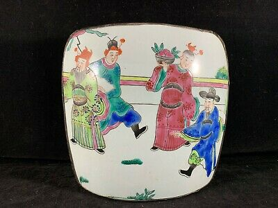Estate Collection Chinese Antique Porcelain Famille Rose Shard Trinket Box