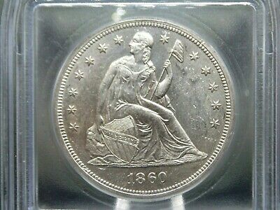 "1860 ""O"" Seated Liberty Dollar $1 ICG MS62 East Coast Coin & Collectables, Inc."