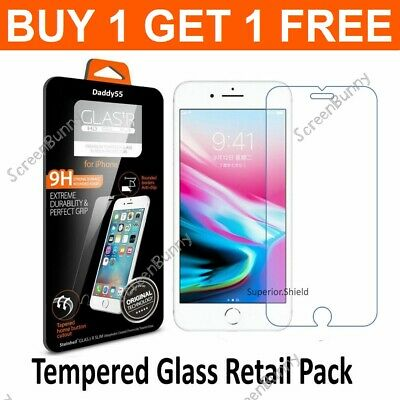Screen Protector For Apple iPhone 6S & 6 - 100% Genuine Tempered Glass
