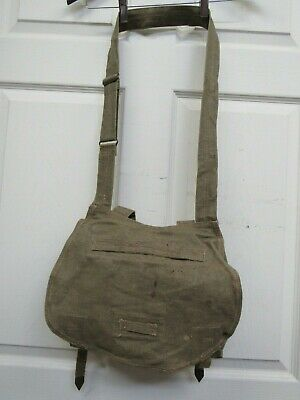 Vintage Czech Military Bread Bag Satchel Shoulder Bag Army Purse 1951 Dated