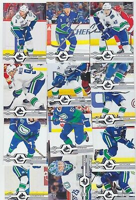 2019-20 Upper Deck Team Set VANCOUVER CANUCKS (13) Free shipping 2019/20 UD